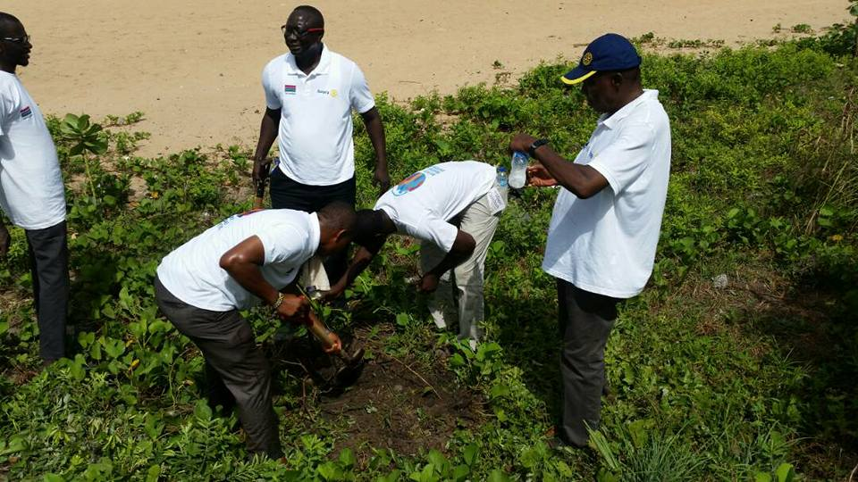 Rotarians In The Gambia Planting Trees To Prevent Beach Erosion